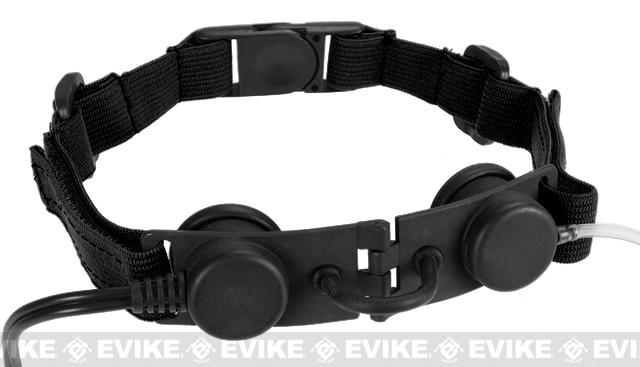 Bravo Airsoft Throat Mic w/ PTT - Black / Motorola Talkabout