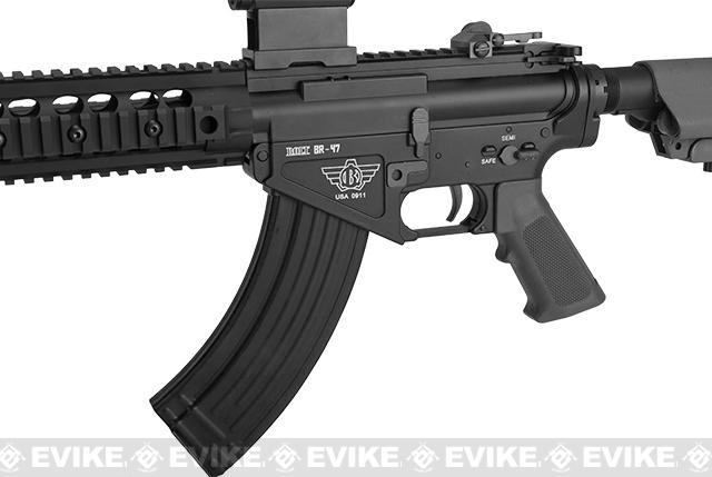 BOLT Airsoft BR-47 9 Railed B.R.S.S. Full Metal EBB Airsoft AEG Rifle - Black