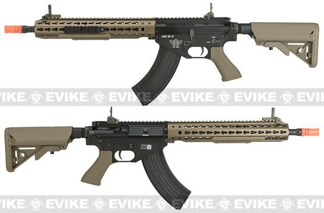 BOLT Airsoft BR-47 13 KeyMod QDC B.R.S.S. Full Metal EBB Airsoft AEG Rifle - Tan