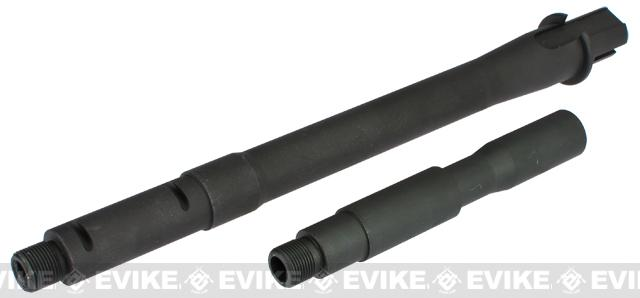 Matrix 9.5 M4 M16 One Piece Steel Outer Barrel for M4 Series Airsoft AEG w/ 4 Extension Set