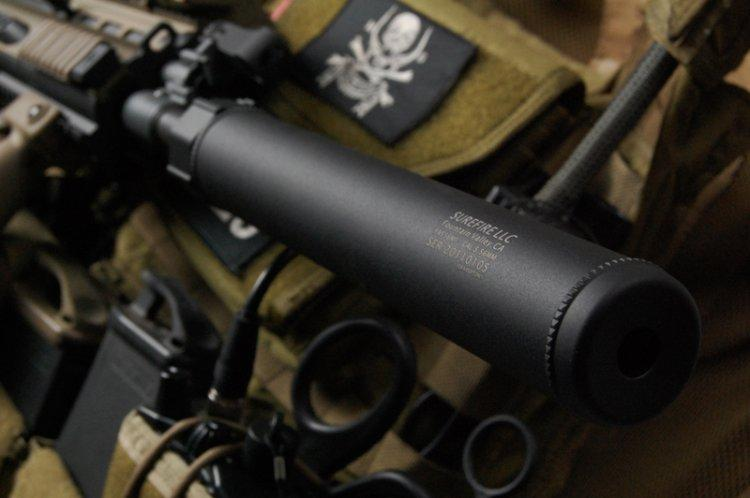 z Surefire Licensed Airsoft QD Mock Suppressor 6 Barrel Extension for Airsoft by Madbull