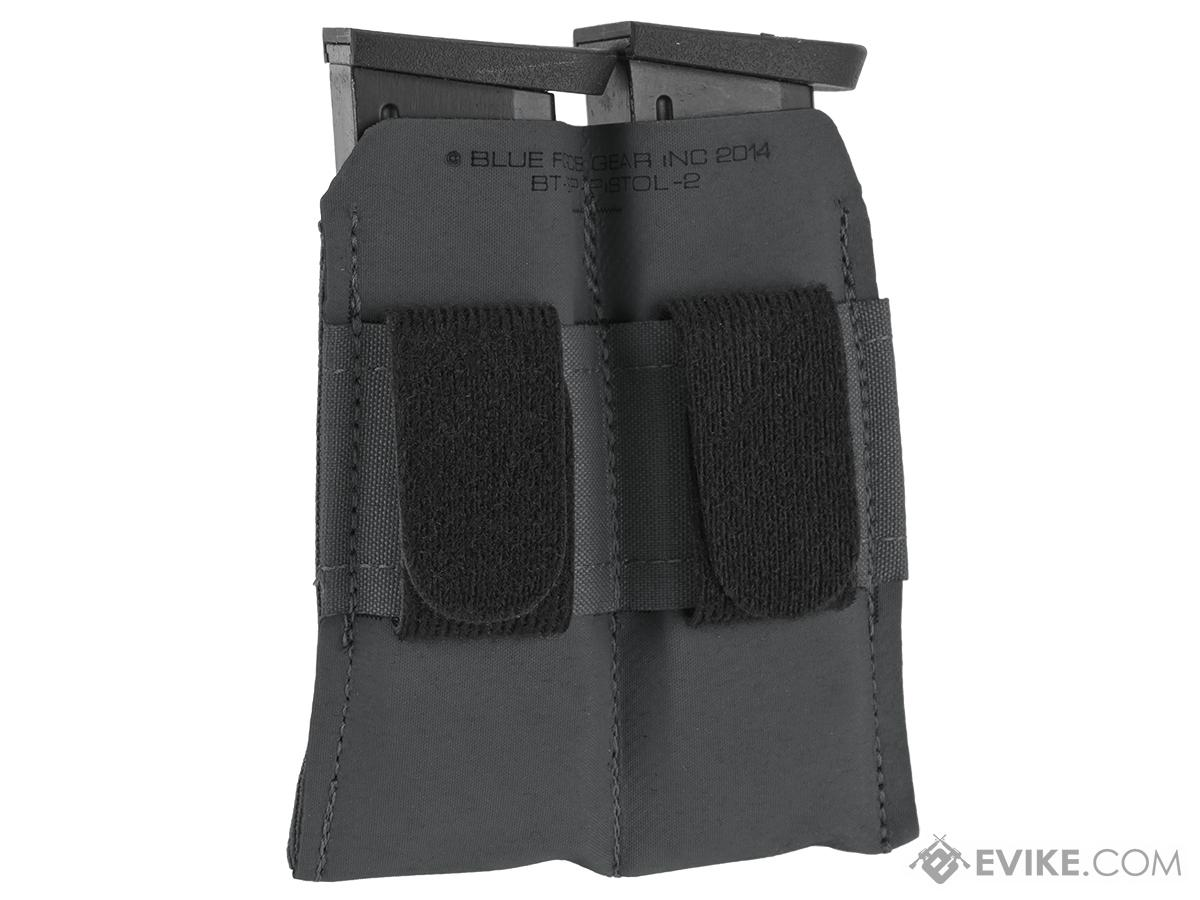Blue Force Gear Belt-Mounted Ten-Speed®  Double Pistol Magazine Pouch - Wolf Gray