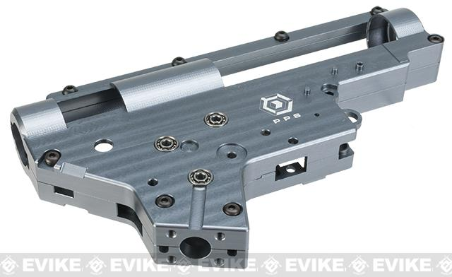 Matrix Custom Reinforced 8mm M4/M16 Gearbox with 8mm Bearings and QD Spring Guide - Grey
