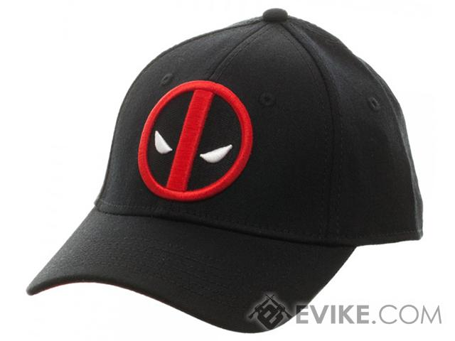 Marvel Deadpool Embroidered  Flex Cap - Black