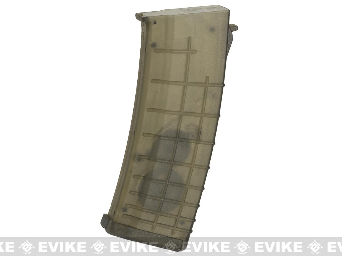 CYMA 520rd Bulgarian Style FlashMag Hi-Cap Magazine for AK Series Airsoft AEG Rifles - Translucent
