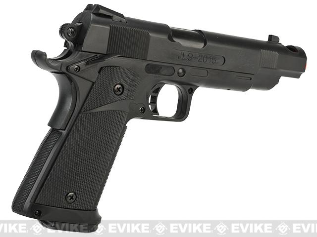 JLS 1:1 Scale 1911 Hi-Capa Match Airsoft Electric Blowback EBB Pistol
