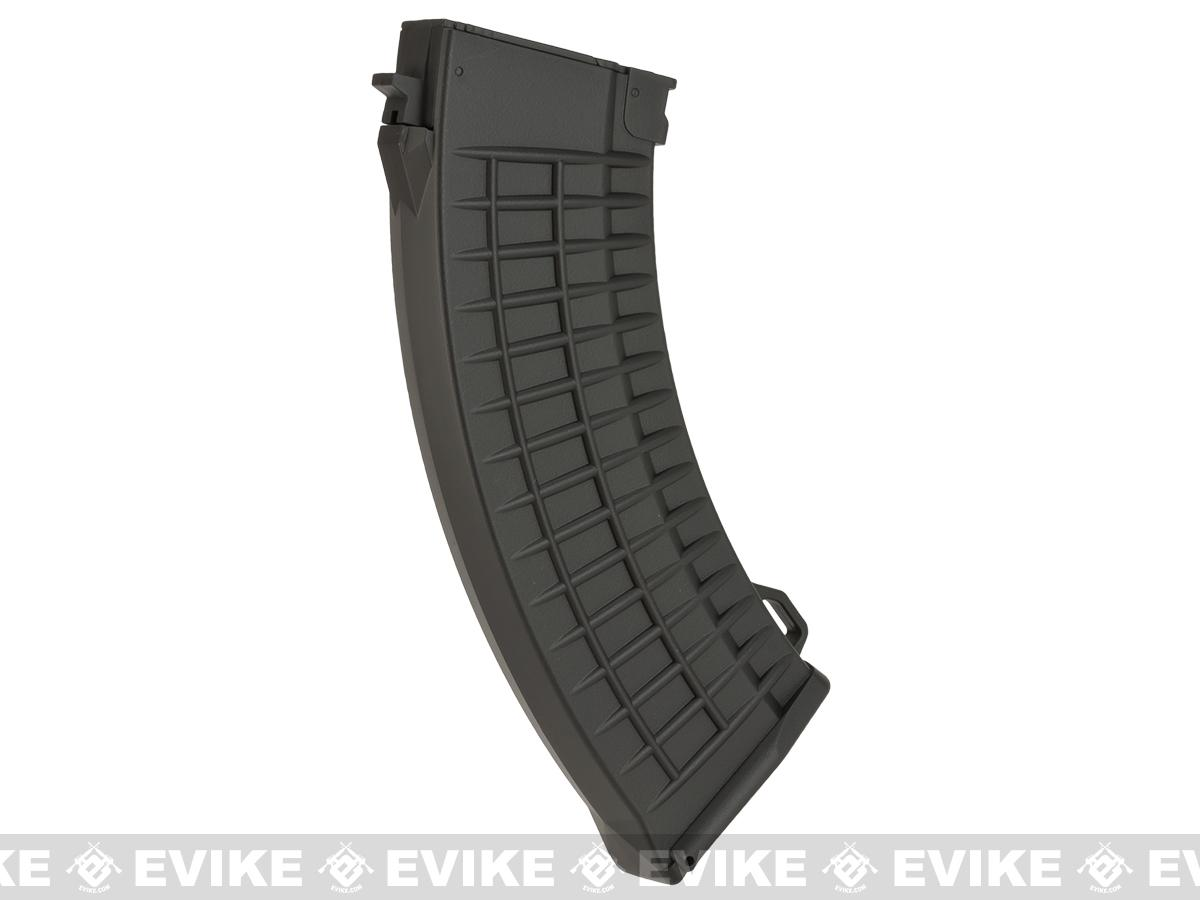 CYMA 520rd Waffle Style FlashMag Hi-Cap Magazine for AK Series Airsoft AEG Rifles - Black