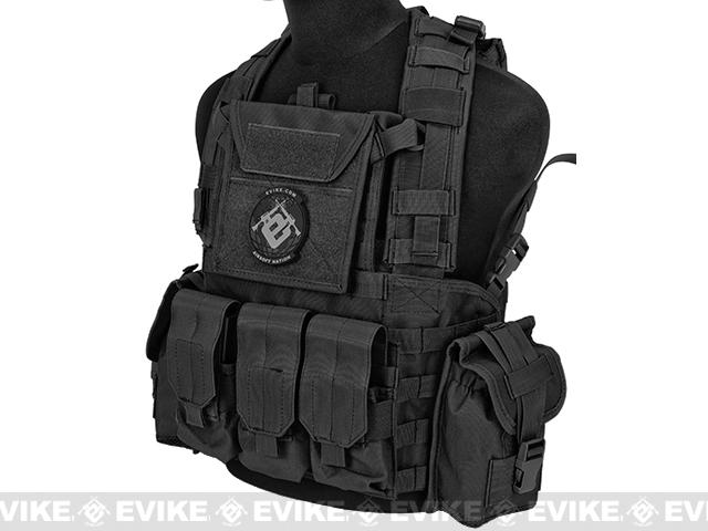 Lancer Tactical CA307 Modular Chest Rig - Black