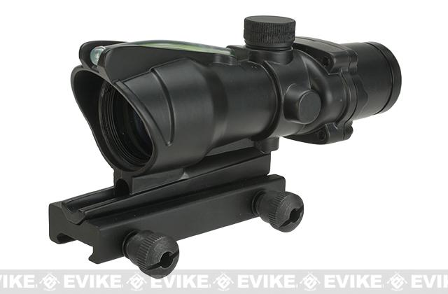 Lancer Tactical 4x32 Magnification Green Fiber Optic Illuminated Rifle Scope