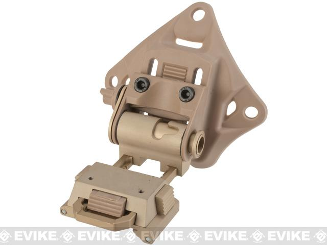 Avengers NVG mount for PVS 15/18 Type Mock NVGs with Polymer Shroud - Tan