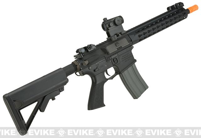 Classic Army Full Metal M4 Airsoft AEG Rifle with 10 KeyMod Handguard - Black