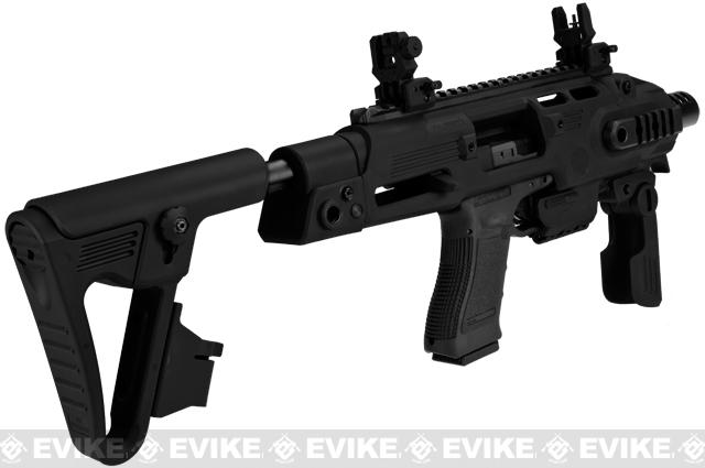 z Evike Custom CAA Airsoft Roni G-Series Carbine Airsoft GBB Pistol - Black