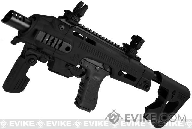 Evike Custom CAA Airsoft Roni G-Series Carbine Airsoft GBB Pistol - Black
