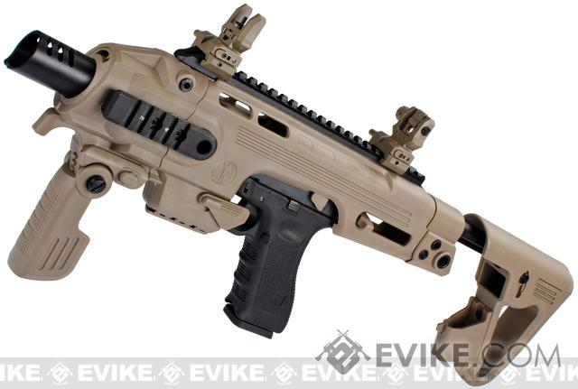 Evike Custom CAA Airsoft Roni G-Series Carbine Airsoft GBB Pistol - Dark Earth
