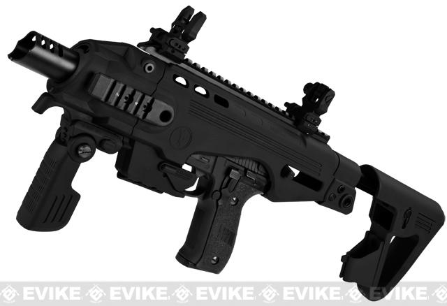 Evike Custom CAA Airsoft Roni P226 Carbine Airsoft GBB Pistol - Black