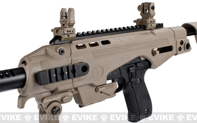 Evike Custom CAA Airsoft Roni P226 Carbine Airsoft GBB Pistol - Dark Earth