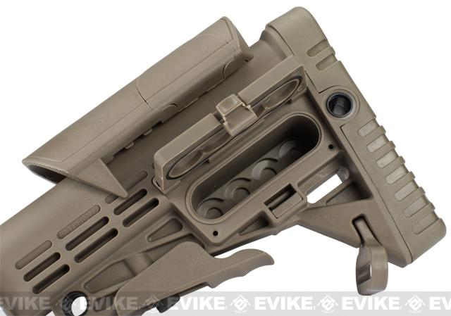 CAA Airsoft CBS+ACP M4 Airsoft AEG Rifle Stock - Dark Earth