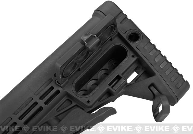 CAA Airsoft CBS M4 Airsoft AEG Rifle Stock - Black