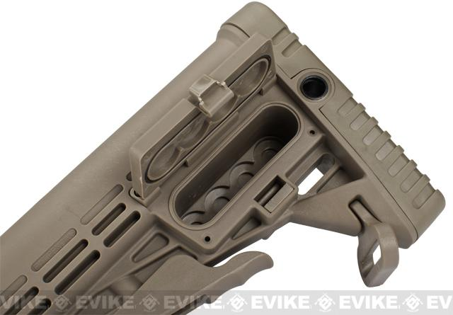 CAA Airsoft CBS M4 Airsoft AEG Rifle Stock - Dark Earth