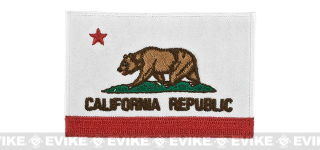 Evike.com Tactical Embroidered Flag Patch (State: California The Golden State)