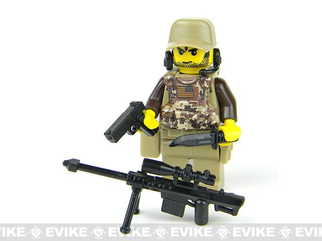 Battle Brick Customs Military Mini-Figure - Camouflage Special Forces Sniper