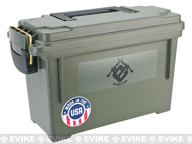 Evike.com Molded Polypropylene Stackable Ammo Can (Made in USA) BB Resupply Kit - (QTY: 10,000 Rounds / 0.20g)