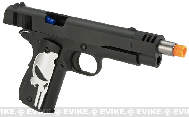 Pre-Order ETA January 2017 Evike.com Class I Custom Executioner WE-Tech 1911A1 Gas Blowback Airsoft Pistol with Compensator - Black