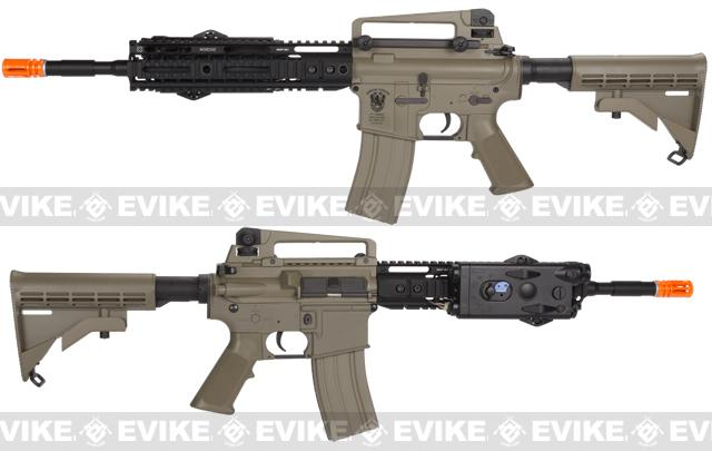 z Evike Custom Matrix AIM M4 Airsoft AEG Rifle - Noveske 10 / Tan