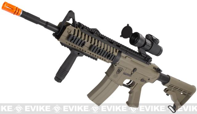 z Evike US Navy E.O.D. Custom Matrix AIM M4 Airsoft AEG Rifle - Desert