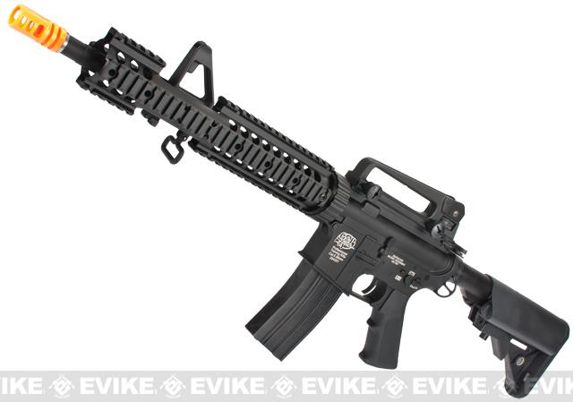 Evike Custom G&P M4 MRE Airsoft AEG Rifle w/ Crane Stock - Black
