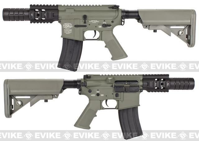 Pre-Order ETA March 2017 Evike Custom Class I G&P M4 Airsoft AEG Rifle - Patriot / Foliage Green (Package: Add Battery + Charger)
