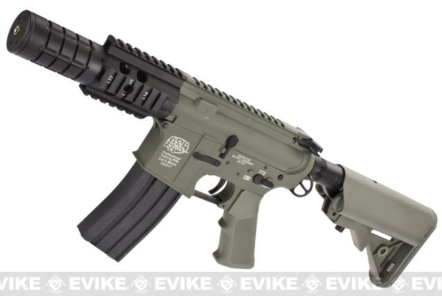 Evike Custom Class I G&P M4 Airsoft AEG Rifle - Patriot / Foliage Green (Package: Gun Only)