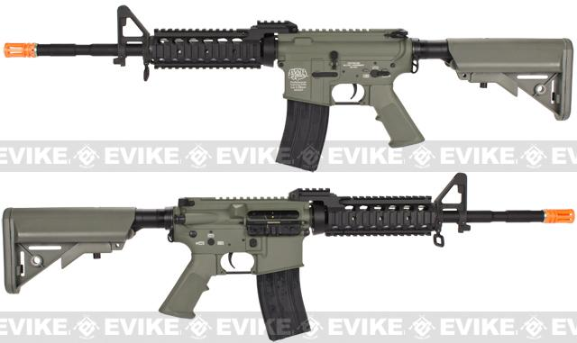 Evike Custom Class I G&P M4 Full Metal Airsoft AEG Rifle - RAS-II / Foliage Green (Package: Gun Only)