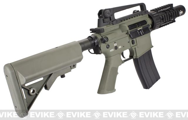 Evike Custom Class I G&P M4 Airsoft AEG Rifle - Stubby Killer / Foliage Green (Package: Add Battery + Charger)