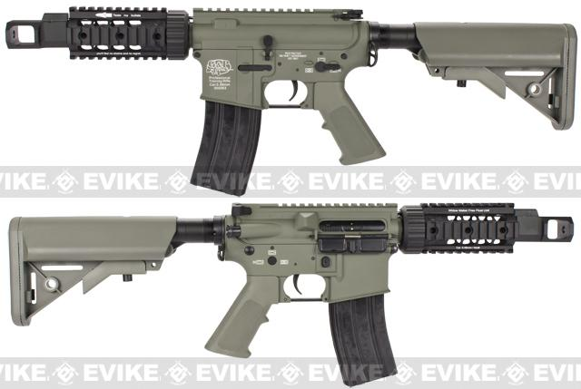 Evike Custom Class I G&P M4 Airsoft AEG Rifle - TANK / Foliage Green (Package: Add Battery + Charger)
