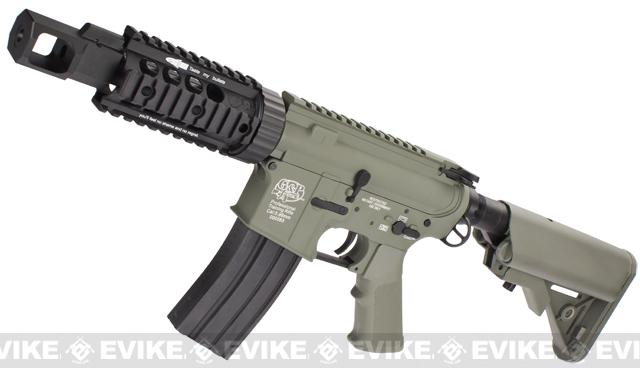 Evike Custom G&P M4 Full Metal Airsoft AEG Rifle - TANK / Foliage Green