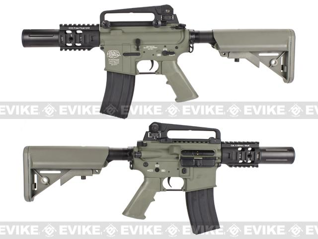 Pre-Order ETA June 2017 Evike Custom Class I G&P M4 Airsoft AEG Rifle - Fighting Cat / Foliage Green (Package: Add Battery + Charger)