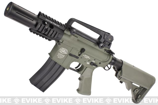 Evike Custom G&P M4 Full Metal Airsoft AEG Rifle - Fighting Cat / Foliage Green