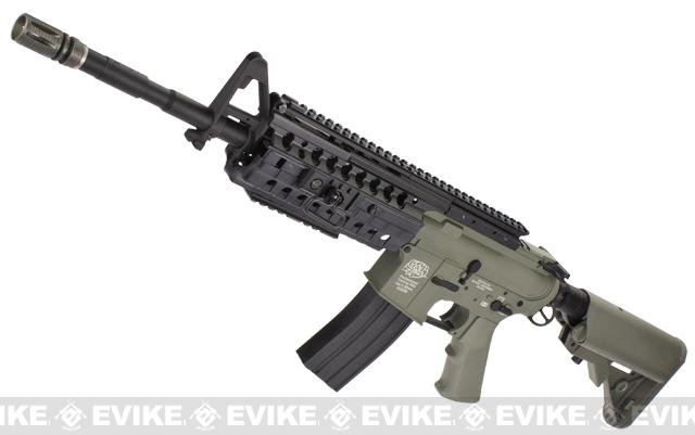 z Evike Custom G&P M4 Full Metal Airsoft AEG Rifle - Special System / Foliage Green