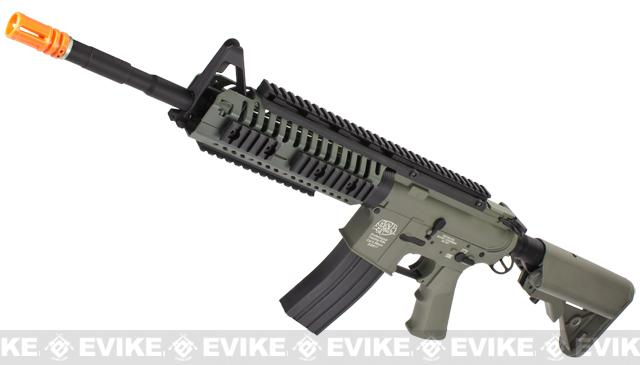 Evike Navy Seal E.O.D. Custom G&P M4 Full Metal Airsoft AEG Rifle - Foliage Green