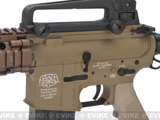 Pre-Order ETA June 2017 Evike Custom Class I G&P M4 Airsoft AEG Rifle - DD Mk18 RIS-II / Tan (Package: Add Battery + Charger)