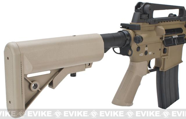 Evike Custom Class I G&P M4 Airsoft AEG Rifle - DD Mk18 RIS-II / Tan (Package: Add Battery + Charger)
