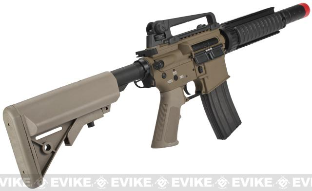 Pre-Order ETA June 2017 Evike Custom Class I G&P M4 CQB-R Airsoft AEG Rifle w/ Crane Stock - Dark Earth (Package: Add Battery + Charger)