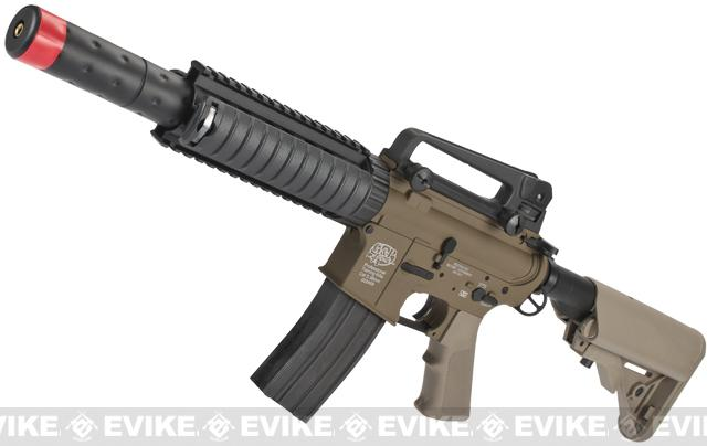 Pre-Order ETA March 2017 Evike Custom Class I G&P M4 CQB-R Airsoft AEG Rifle w/ Crane Stock - Dark Earth (Package: Add Battery + Charger)