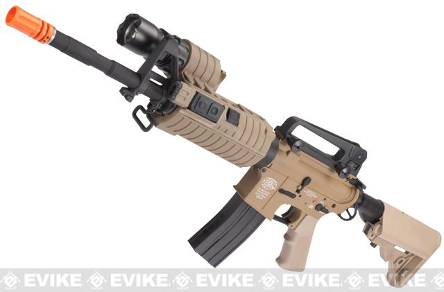 Evike Custom G&P M4 Full Metal Airsoft AEG Rifle - SWAT Carbine / Tan