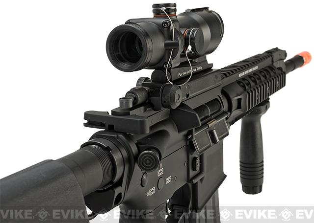 Evike Class II Custom G&P PolarStar M4 Carbine URX RAS Electro-Pneumatic Airsoft Rifle - Black