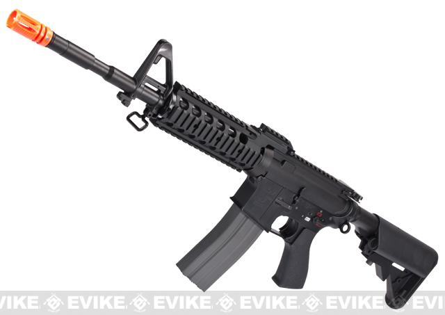 Evike Custom G&G Full Metal M4 RASII Airsoft AEG Rifle w/ Crane Stock - Black