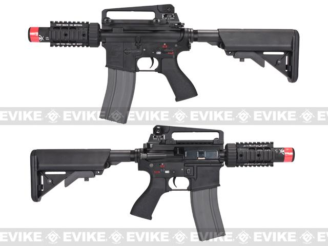 Evike Class I Custom G&G Full Metal M4 Stubby Killer Airsoft AEG Rifle w/ Crane Stock - Black (Package: Gun Only)