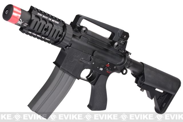 Evike Class I Custom G&G Full Metal M4 Stubby Killer Airsoft AEG Rifle w/ Crane Stock - Black
