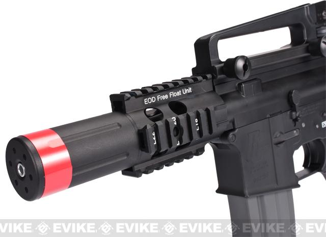 Evike Class I Custom G&G Full Metal M4 Fighting Cat Airsoft AEG Rifle w/ Crane Stock - Black (Package: Gun Only)